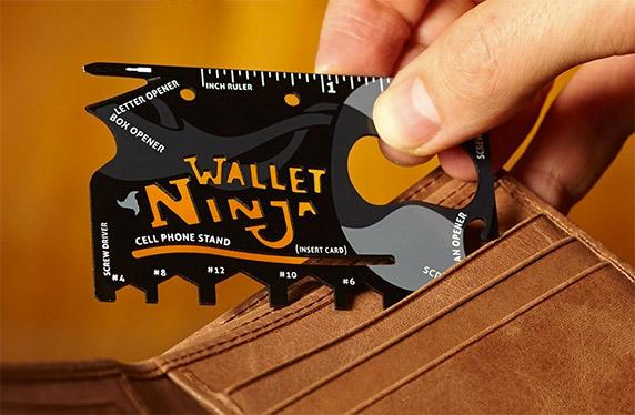 Wallet Ninja, la multiherramienta que ocupa menos espacio