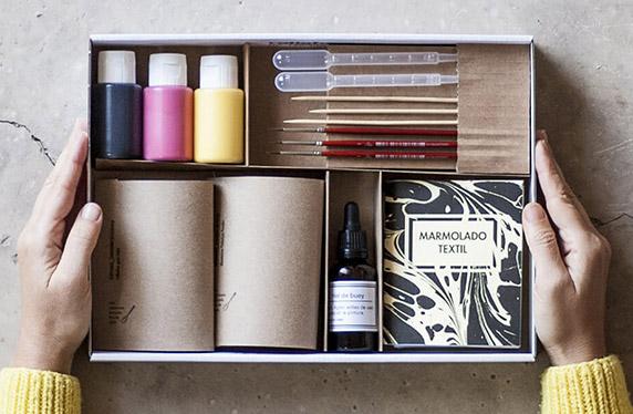 Kit de estampación estilo marmolado