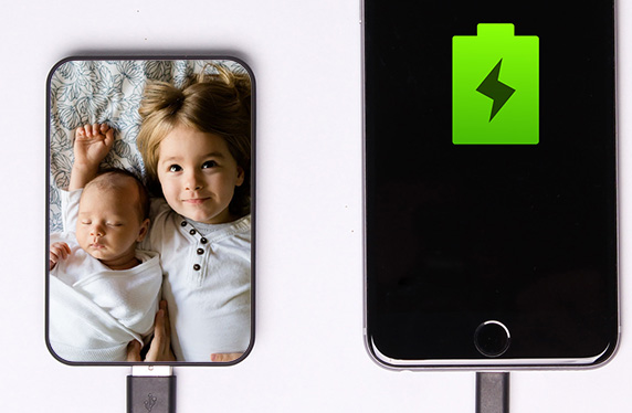 Batería de bolsillo con tu foto preferida