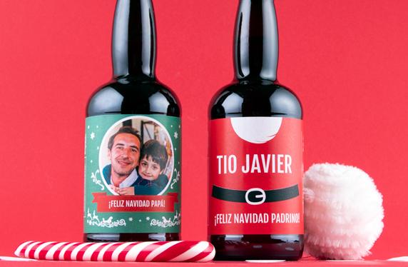 Pack de cerveza personalizada de Navidad