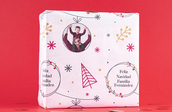 Papel de regalo personalizado modelo Navidad