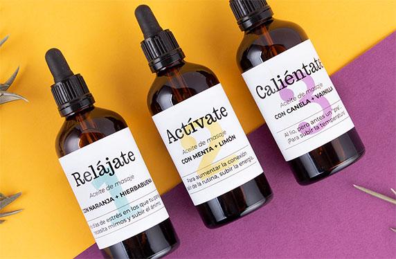 Kit de aceites de masajes para parejas