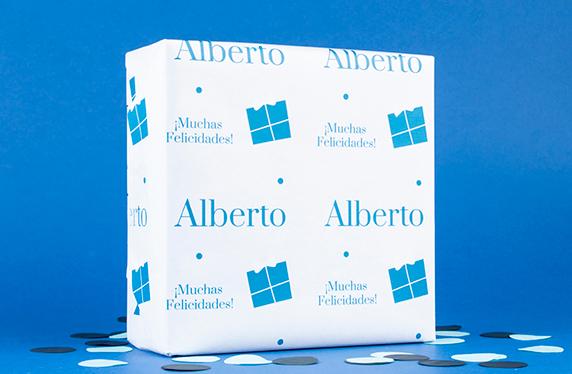 Papel de regalo personalizado modelo regalo con mensaje