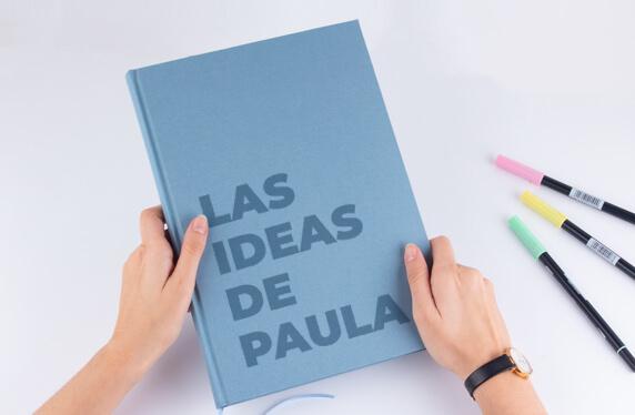 Libro de notas personalizable con cubierta de lino, A4