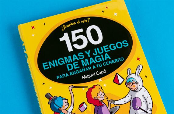 """Libro """"150 enigmas y juegos de magia"""""""