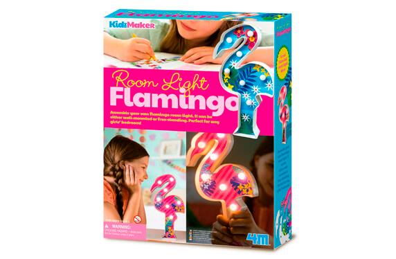 Set para crear tu lámpara de mesa flamingo