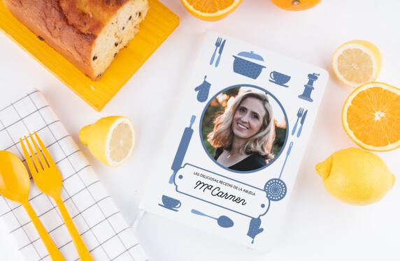 Libreta de recetas personalizable con foto