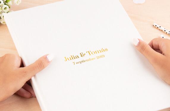 Libro de notas personalizable, A4, Diseño Tú y Yo