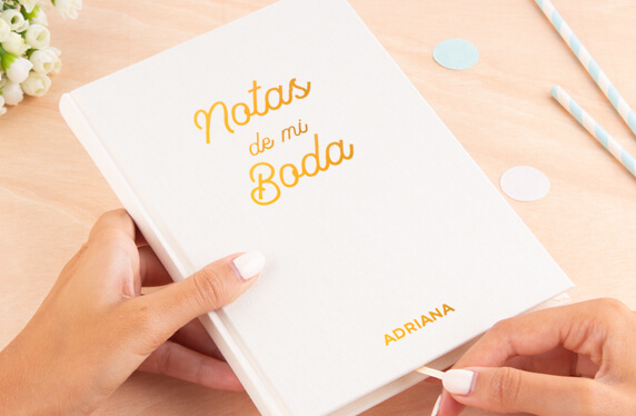 Libro de notas personalizable, A5, boda