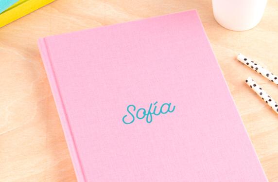 Libro de notas personalizable, A5, con Nombre