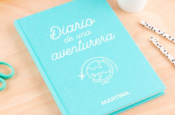 Libro de notas personalizable, A5, diario de viaje
