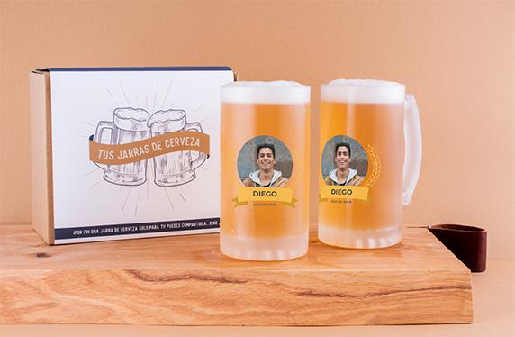 Jarras de cerveza personalizadas con nombre y foto