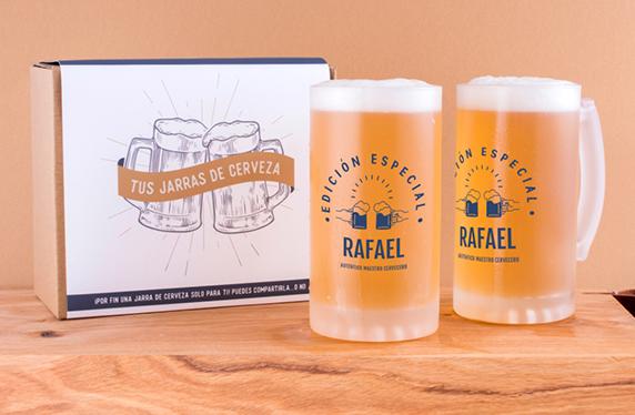 """Jarras de cerveza personalizadas """"Edición Especial"""""""