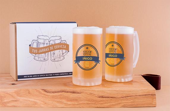 """Jarras de cerveza personalizadas """"nombre"""""""