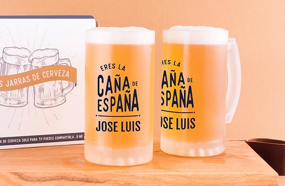 Jarras de cerveza personalizadas, La caña de España