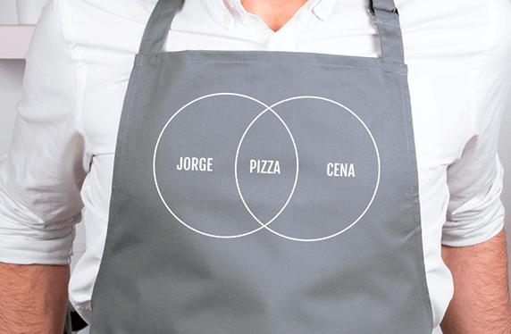 """Delantal personalizado. Modelo """"Pizza"""""""