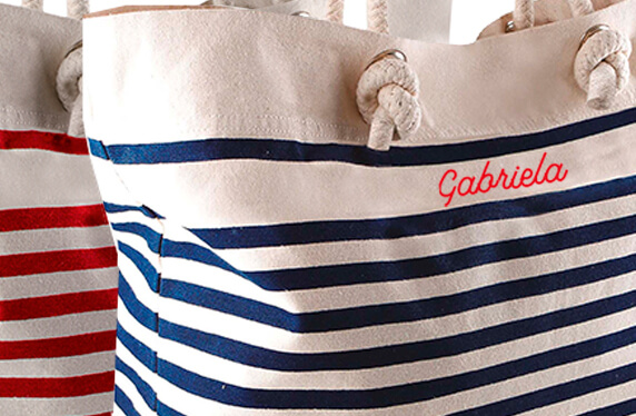 Bolso de playa personalizado. Nombre