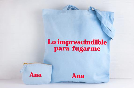 """Bolso y monedero personalizado: """"lo imprescindible"""""""