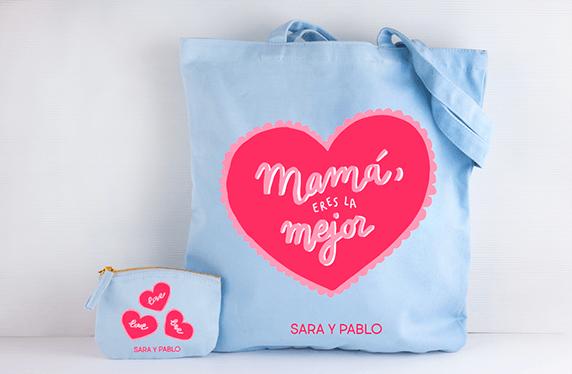 """Bolso y monedero personalizado: """"Mamá La Mejor"""""""