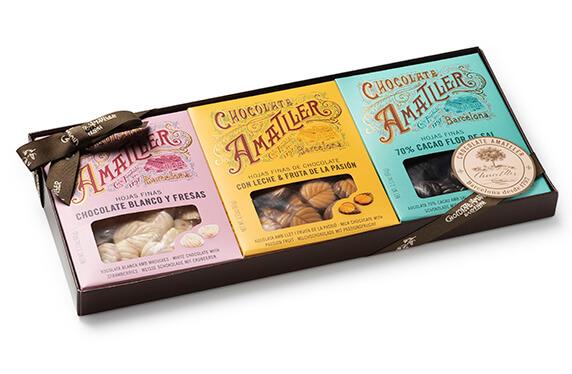 "Estuche de 3 Chocolates Amatller ""3 Únics"""