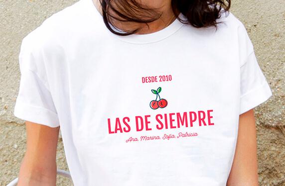 """Camiseta personalizada chica. Modelo """"Las de siempre"""""""