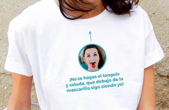 """Camiseta personalizada chica. Modelo """"Mascarilla"""""""