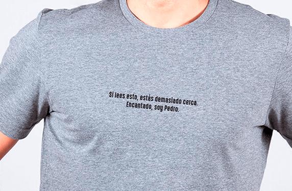 Camisetas personalizadas para chico. Modelo «Distancia social»