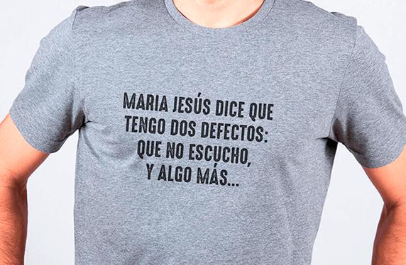 "Camiseta personalizada chico. Modelo ""Mi mujer"""