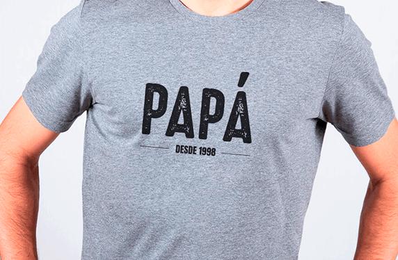 """Camisetas personalizadas para chico. Modelo """"Papá"""""""