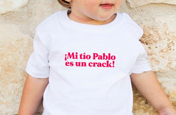 """Camiseta personalizada niño. Modelo """"Mi tío es un crack"""""""