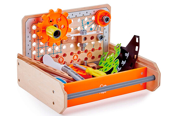 Banco de juego portátil para inventores