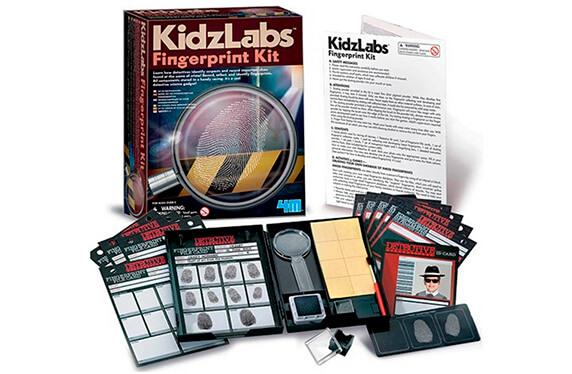 Kit de huellas dactilares para pequeños detectives