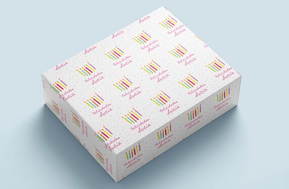 Papel personalizado cumpleaños velas