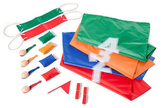 Set juegos tradicionales para fiestas