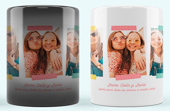 Taza personalizada con celos de colores