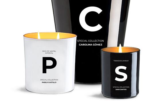 Velas de lujo aromatizadas y personalizadas