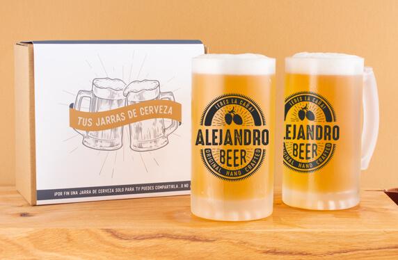 """Jarras cerveza personalizadas """"Eres la caña"""""""