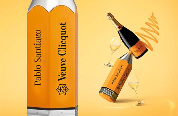 Champagne Veuve Clicquot en estuche personalizado