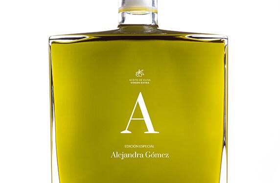 Elegante frasco Aceite Oliva Premium personalizado
