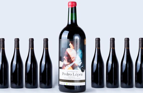 Botella de 3 LITROS de vino tinto personalizado