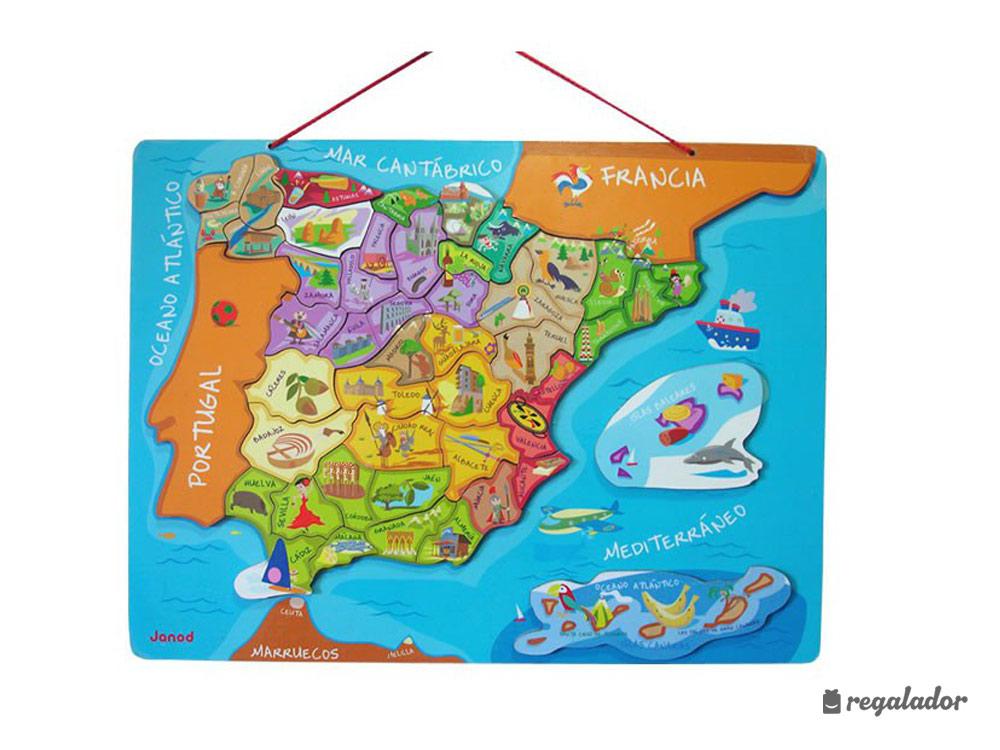 Puzzle magnético de España para niños en Regalador.com