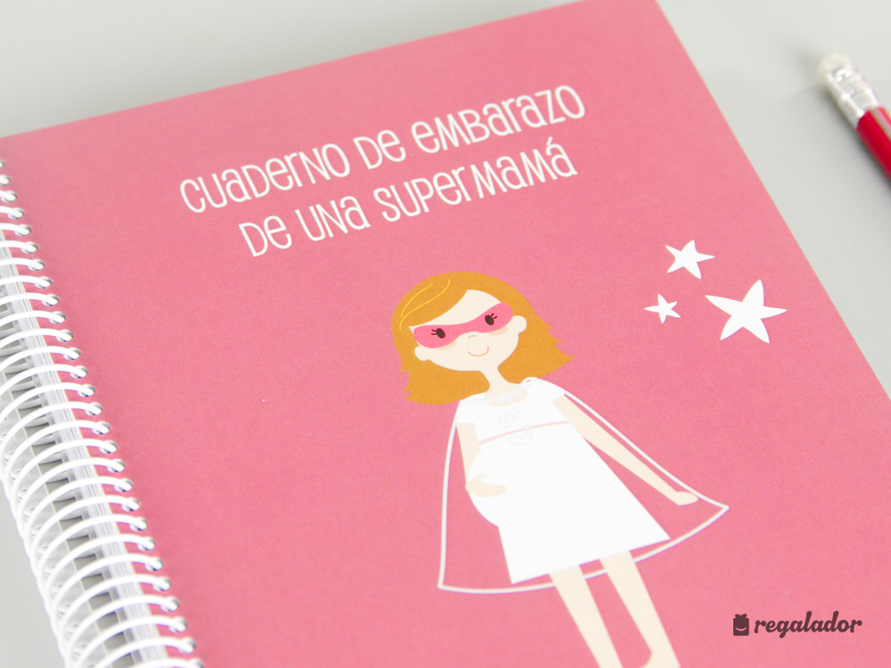 Cuaderno de embarazo de una súper mamá en Regalador.com