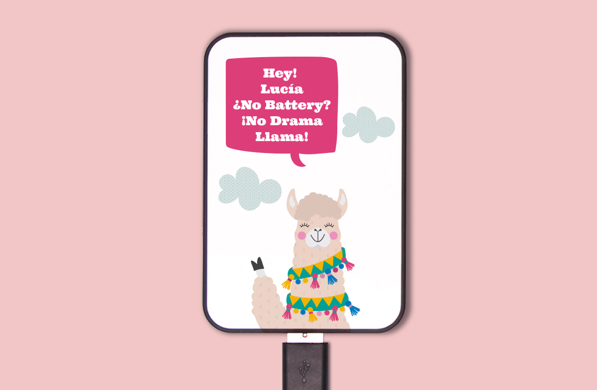 Batería portátil personalizada para chicas