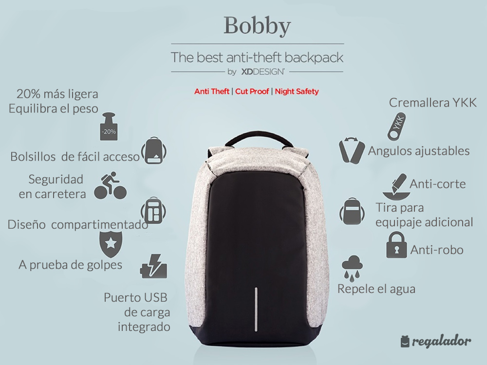«Bobby»: la mochila antirrobos