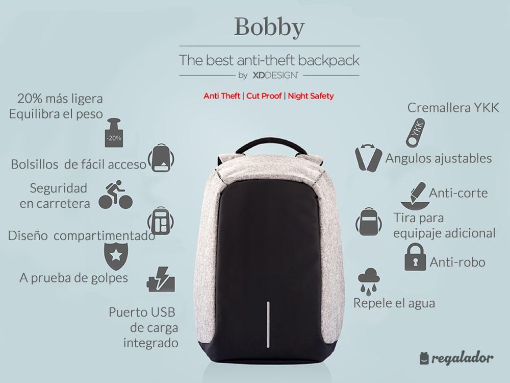 """Bobby"": la mochila antirrobos"