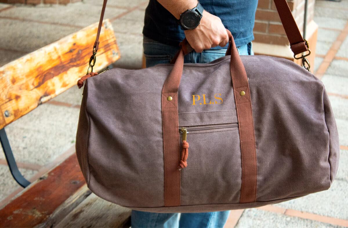 Bolsa de viaje vintage personalizada