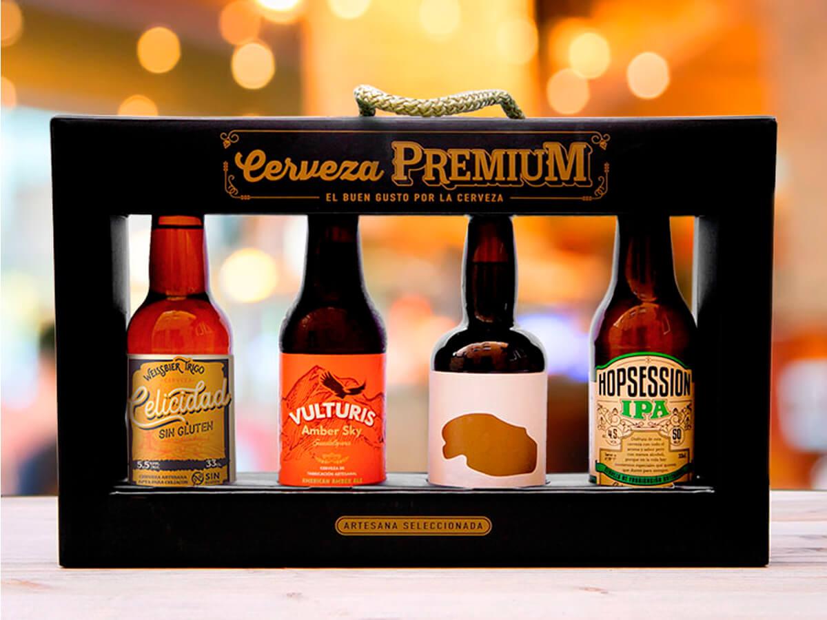 Estuche de cervezas premium