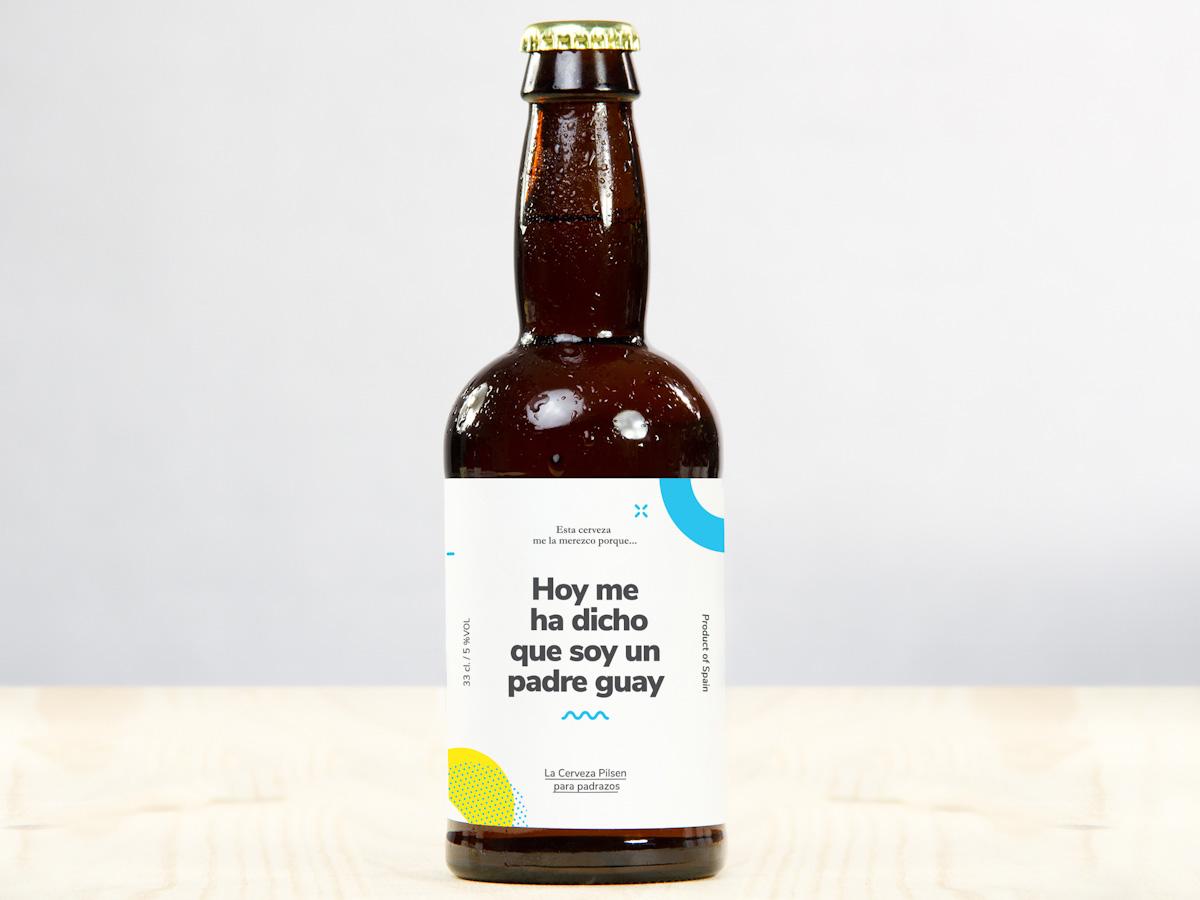Pack de cervezas con abridor para padres