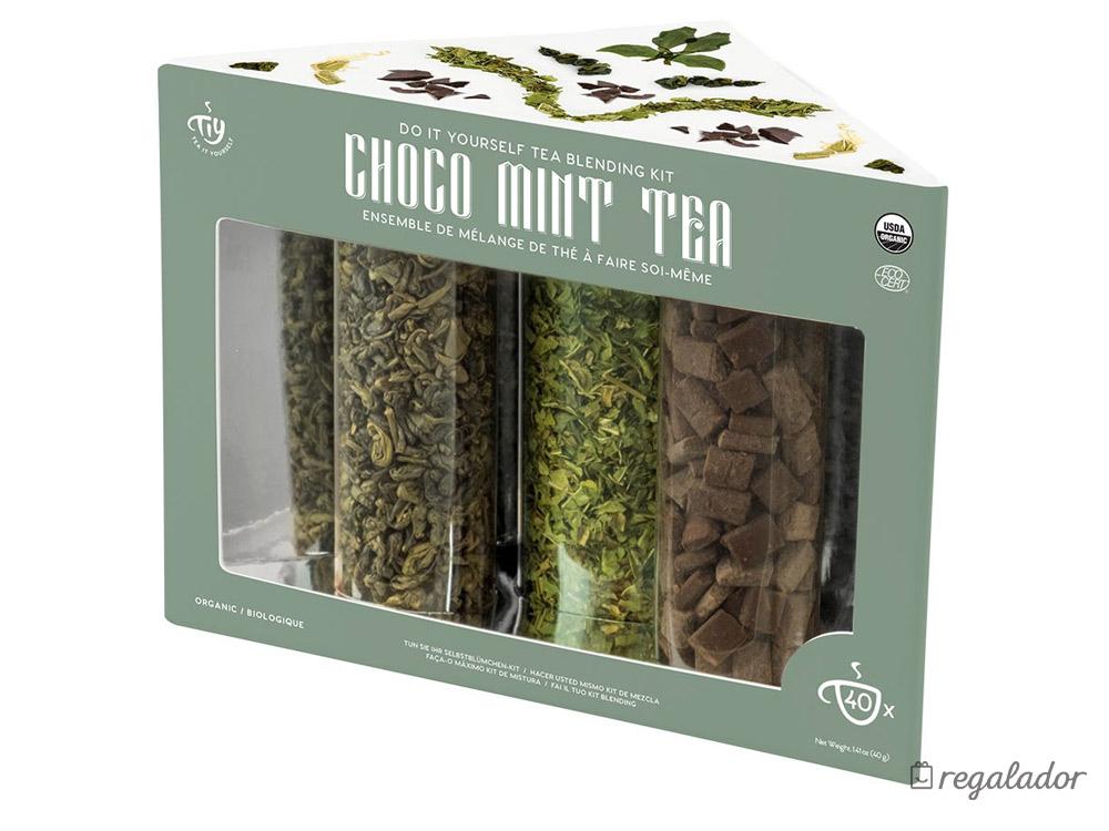 Pack de té orgánico y chocolate para crear mezclas personalizadas