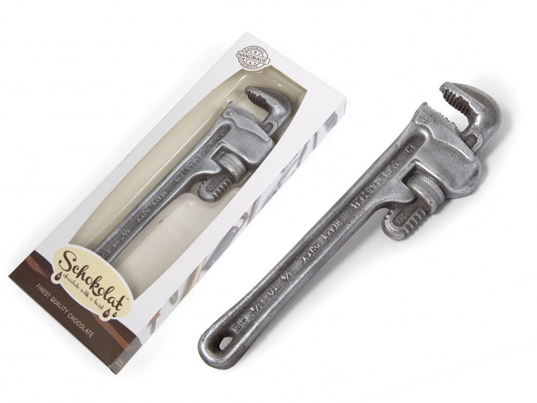 La llave inglesa de chocolate más realista